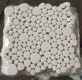 2017 mattonelle di mosaico di ceramica rotonde con il ghiaccio di Crackle di ceramica