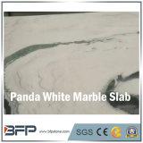Losa de mármol blanca de Bookmatched de la panda Polished para los azulejos de suelo