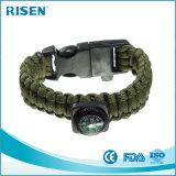 Jogo por atacado do bracelete do sílex de Paracord da sobrevivência para o acampamento ao ar livre