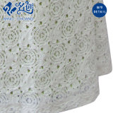백색 둥근 고리 간결 소매 호리호리한 후방 지퍼 에이라인 형식 복장
