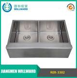 Agriturismo Rer-3302 Artigianato doppio dell'acciaio inossidabile del dispersore di cucina
