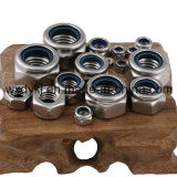 중국 스테인리스 나사 304 BS 4929에서 나일론 삽입 로크 너트 공장