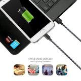 Cabo de dados cobrando rápido do USB da trança micro para o telefone Android