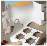 Rectángulo de torta de encargo de la maneta de Artpaper con la ventana del PVC