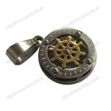 Traversa placcata oro dell'acciaio inossidabile e collana Pendant dei monili di Juses (IO-st00B)