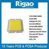 Placa redonda do PWB do diodo emissor de luz do alumínio do poder superior quadrado da alta qualidade