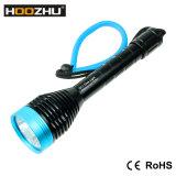 La antorcha vendedora caliente 1000lm máximo del salto de Hoozhu D11 impermeabiliza la luz subacuática del 120m