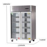 Nuevo tipo refrigerador de gran capacidad de la cocina del acero inoxidable de las puertas dobles