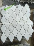 Mosaico di marmo bianco di Carrara, materiale naturale, mattonelle di mosaico di pietra