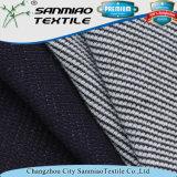 260GSM 100 coton Indigo Knitted Denim Waffle Tissu pour vêtements