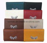 Бумажник управления устроителя карточки PU женщин декора бабочки кожаный