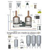 Come la birra è resa a piccolo investimento di /a in fabbrica della birra/strumentazione fermentata domestica della birra/strumentazione d'ordinazione di preparazione della birra