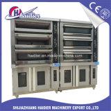 Forno da plataforma do gás do forno do cozimento do pão de 6 bandejas com Proofer