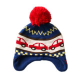冬の帽子のアクリルの習慣によって編まれる帽子POM POMの帽子の帽子のジャカード帽子の帽子