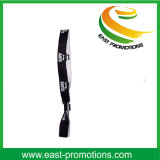Wristbands promozionali poco costosi su ordinazione di Wovern del tessuto per il partito
