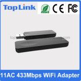 802.11AC de alta velocidad 433Mbps de banda dual USB inalámbrico WiFi adaptador USB para tarjeta de red de la computadora