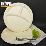 Envase de alimento plástico respetuoso del medio ambiente de Microwaveable de 3 compartimientos con la tapa