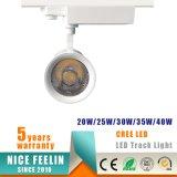 セリウムの証明書が付いている5years保証40Wの高い発電LED Tracklight