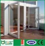 Puerta abatible de aleación de aluminio con panel doble