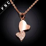 Sweart Inner-Form-Schmucksache-Gold überzogene hängende Halskette in CZ