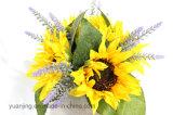 Hightの品質の絹のヒマワリの人工花