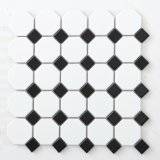 Плитки мозаики строительного материала черные шестиугольные стеклянные