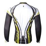 Нашивка задействуя Джерси покрывает желтый цвет куртки спорта длинней втулки людей Breathable быстро сухой
