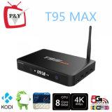가득 차있는 1080P HD 영상 Ott T95 최대 S905 2g 32g 쿼드 코어 인조 인간 5.1 텔레비젼 상자 Kodi16.0