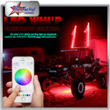 RGB LED Whips por Bluetooth Control Milk Tube 4FT 5t 6FT 8FT LED Safety Light Flag Pole para Jeep ATV UTV