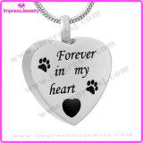 De HerdenkingsJuwelen van het huisdier voor altijd in Mijn Tegenhanger van het Hart van het Hart met Poten Ijd9704