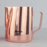 ステンレス鋼のミルクの水差しのCafeteraのエスプレッソのコップ