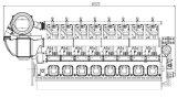 Двигатель дизеля морского пехотинца серии X16V320