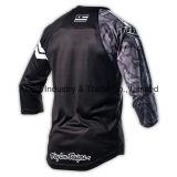 Motocicleta profissional do Sublimation da qualidade preta que compete Jersey (MAT52)