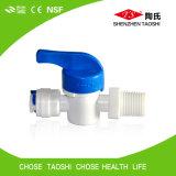 Soupape de vidange manuelle en plastique pour l'épurateur de l'eau