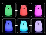 Lumière de couleur d'ours de lampe de chevet de lumière de nuit de silicones