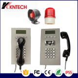 Teléfono de servicio Emergency resistente del SIP del vándalo de Koontech con la pantalla del LCD