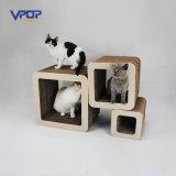 Poste acanalado de Scratchers del gato del nuevo del gato del juguete cuadrado de los productos