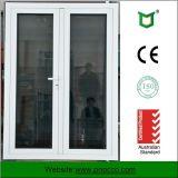 Porte d'oscillation en aluminium de tissu pour rideaux des graines en bois de type japonais, porte de tissu pour rideaux de verre feuilleté avec le GV de la CE As2047