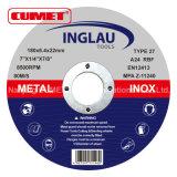 Roues abrasives à centre dépressif pour métal 180 * 6.4X22.2mm