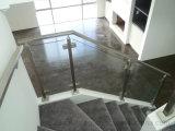 Edelstahl-Balkon-Glasbalustrade, Glaszaun, halb Pfosten-Treppen-Glasgeländer