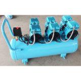 compressor de ar industrial do parafuso silencioso livre do petróleo de 3X550W 90L