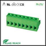 3.5/3.81mmピッチのネジ式メス型コネクタの端子ブロック