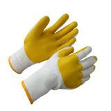 Хлопок с перчаткой строительной работы перчаток резины Coated
