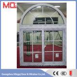 Janela de deslizamento de vidro com PVC de topo de grade para venda