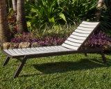 Cadeira ao ar livre da sala de estar do Chaise da pilha de alumínio de Polywood com parte traseira ajustável para a praia da plataforma do hotel