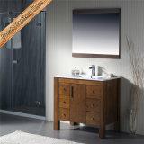 Vanidad de cerámica del baño de la cabina del baño de China de la alta calidad de madera sólida Fed-1166