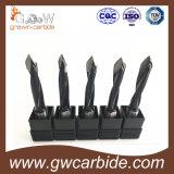 Bits de broca de torção de hélice esquerda e direita de carboneto