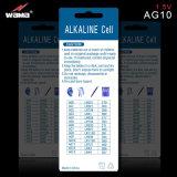 AG10 1.5V Batterij van de Cel van de 75mAh de Alkalische Knoop