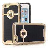 Caja dura a prueba de choques del teléfono celular del iPhone 7 delgadamente con el vidrio Tempered