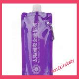 Bolso plegable de encargo de la boquilla de la succión de la bebida de los bolsos de agua